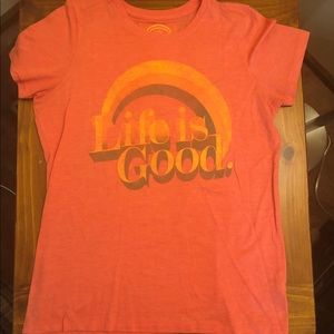 Life is Good fitted tee- Medium